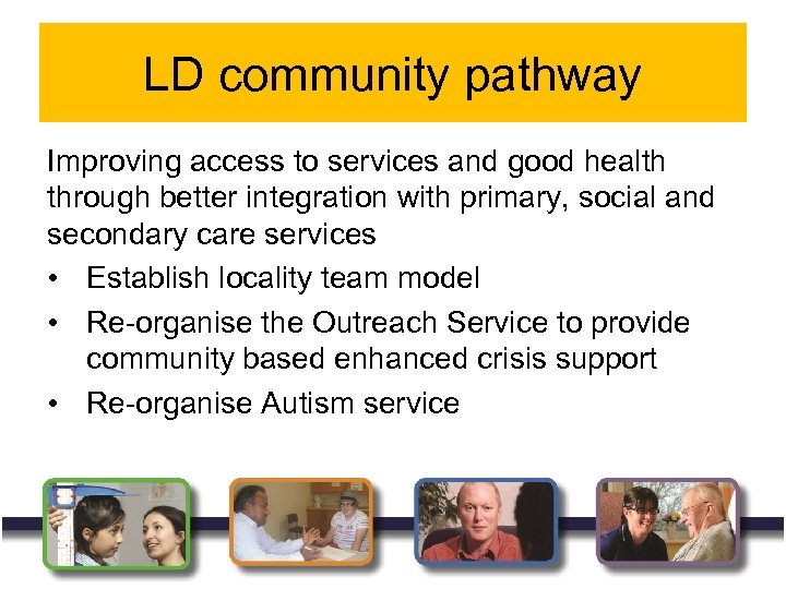 LD community pathway Improving access to services and good health through better integration with