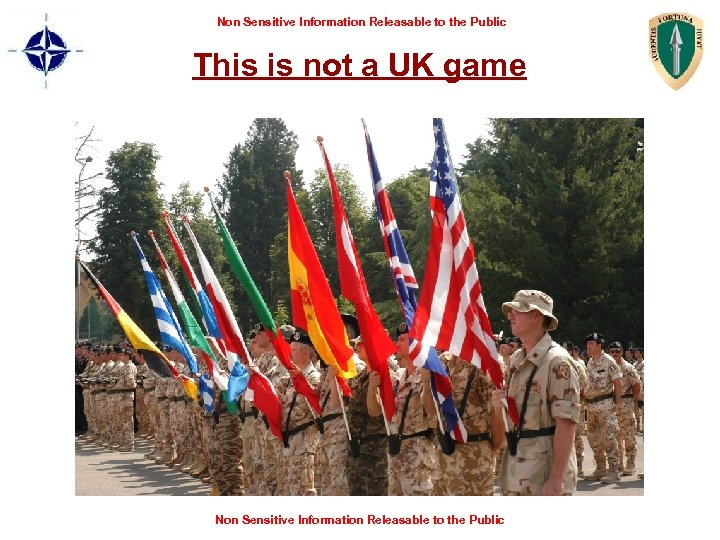 Non Sensitive Information Releasable to the Public This is not a UK game Non