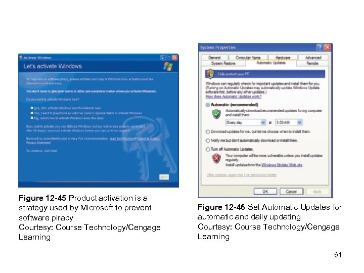 Figure 12 -45 Product activation is a strategy used by Microsoft to prevent software