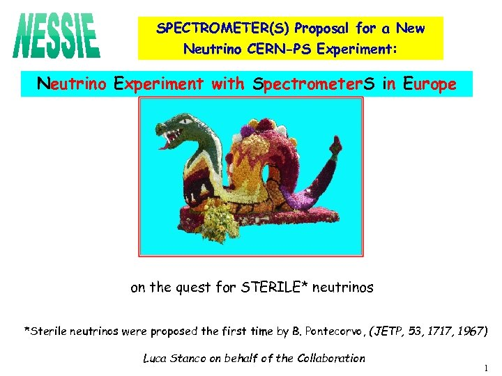 SPECTROMETER(S) Proposal for a New Neutrino CERN-PS Experiment: Neutrino Experiment with Spectrometer. S in