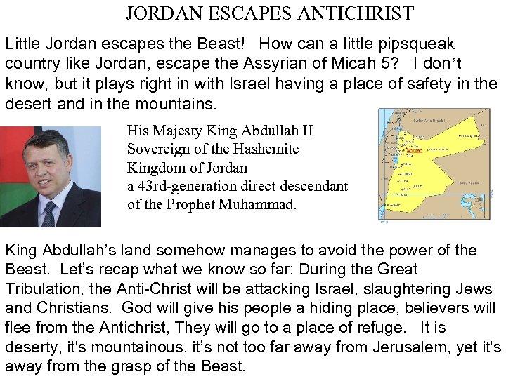 JORDAN ESCAPES ANTICHRIST Little Jordan escapes the Beast! How can a little pipsqueak country