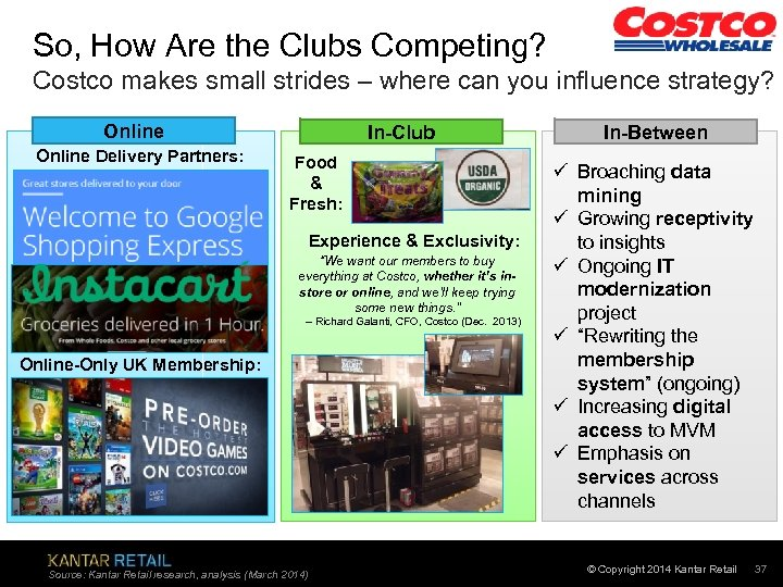 So, How Are the Clubs Competing? Costco makes small strides – where can you