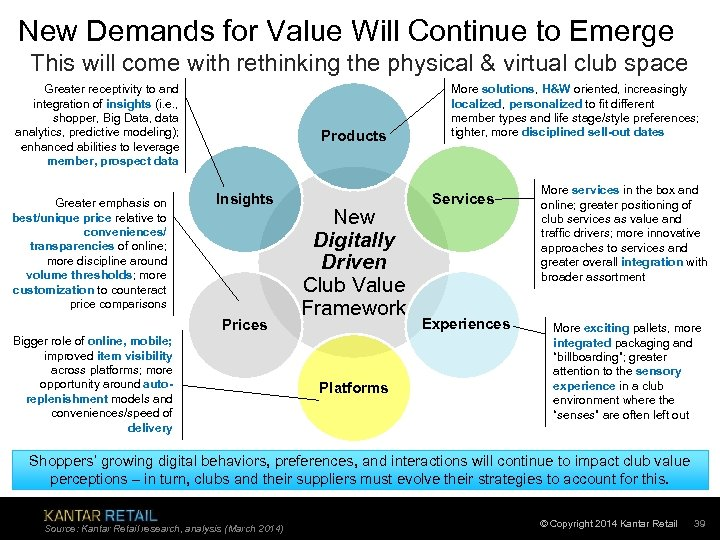 New Demands for Value Will Continue to Emerge This will come with rethinking the
