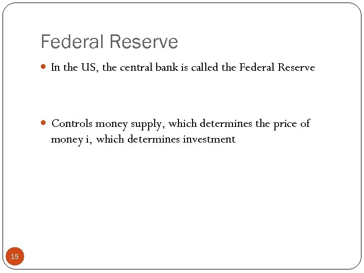 the current monetary policy of the federal reserve essay Monetary policy is control by the federal reserve bank one of the ways that the us government attempts to control the economy iii the government and the fed use fiscal and monetary policies combined to influence the direction of the economy and meet economic goals by: a.