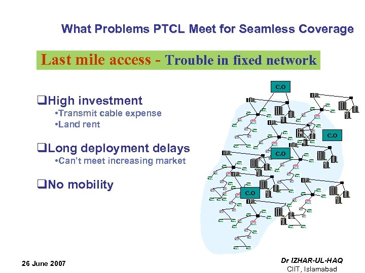 What Problems PTCL Meet for Seamless Coverage Last mile access - Trouble in fixed