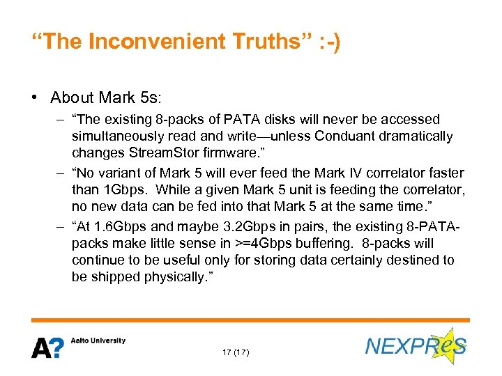 """The Inconvenient Truths"" : -) • About Mark 5 s: – ""The existing 8"