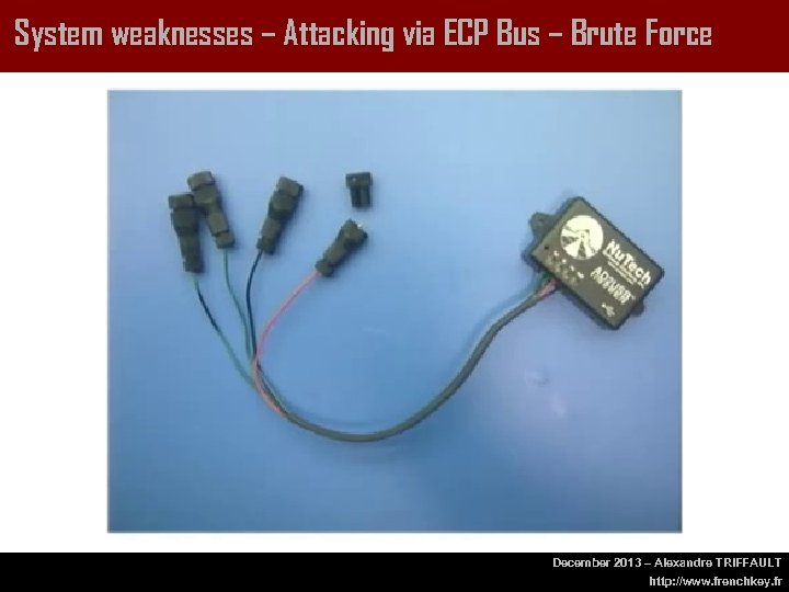 System weaknesses – Attacking via ECP Bus – Brute Force December 2013 – Alexandre