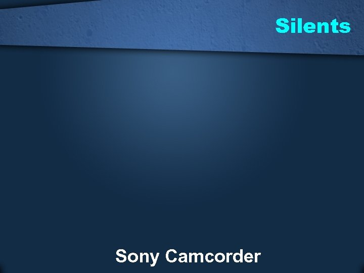 Silents Sony Camcorder