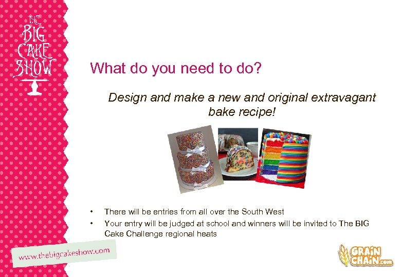 What do you need to do? Design and make a new and original extravagant