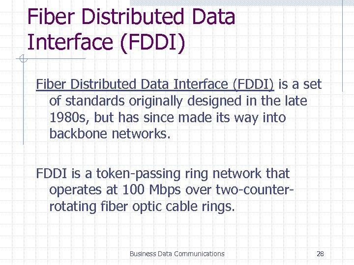 distributed backbone network