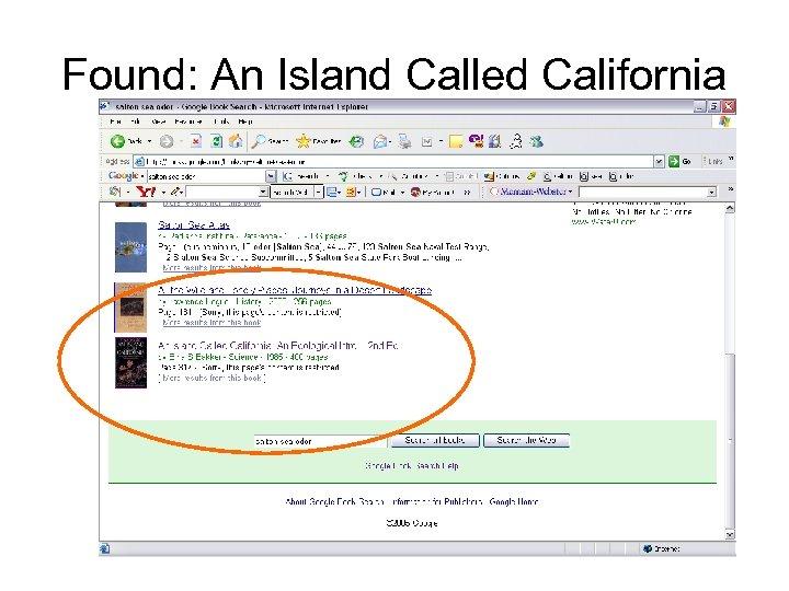 Found: An Island Called California
