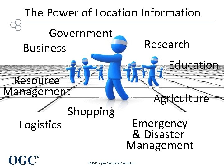 The Power of Location Information Government Business Research Education Resource Management Logistics OGC Shopping