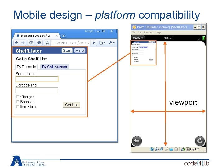 Mobile design – platform compatibility viewport