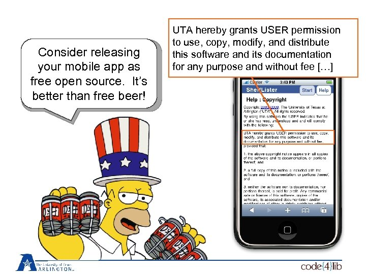 Consider releasing your mobile app as free open source. It's better than free beer!