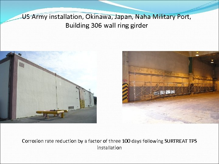 US Army installation, Okinawa, Japan, Naha Military Port, Building 306 wall ring girder Corrosion