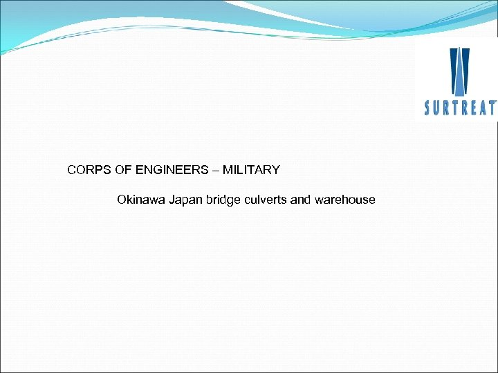 CORPS OF ENGINEERS – MILITARY Okinawa Japan bridge culverts and warehouse