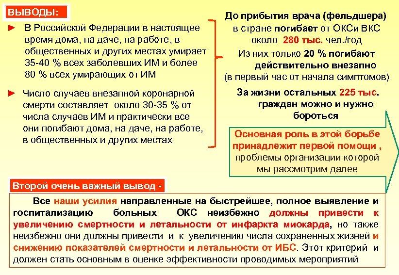 ВЫВОДЫ: ► В Российской Федерации в настоящее время дома, на даче, на работе, в