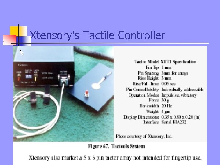 Xtensory's Tactile Controller