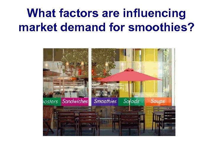 What factors are influencing market demand for smoothies?