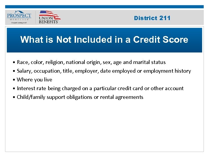 Improve Your 211 District Credit Score What is Not Included in a Credit Score