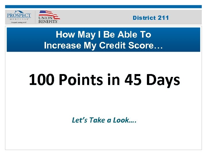 Improve Your 211 District Credit Score How May I Be Able To Increase My