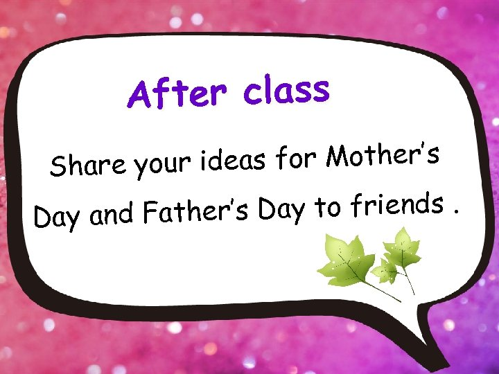 After class r ideas for Mother's Share you ther's Day to friends. Day and
