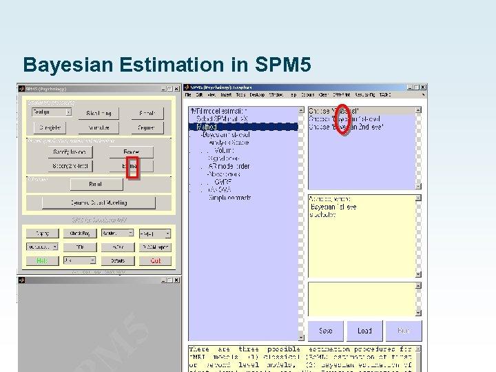 Bayesian Estimation in SPM 5