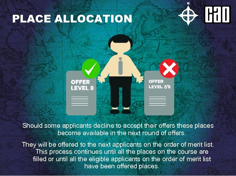 PLACE ALLOCATION Should some applicants decline to accept their offers these places become available