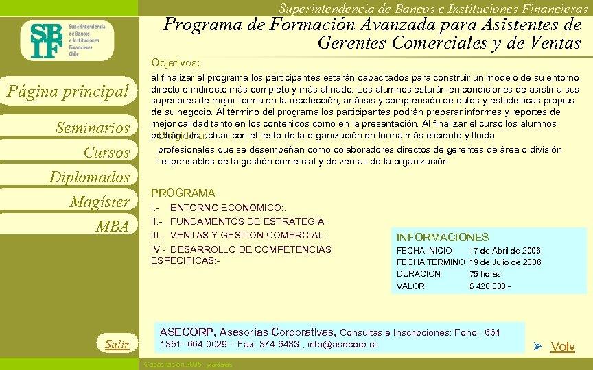 Superintendencia de Bancos e Instituciones Financieras Programa de Formación Avanzada para Asistentes de Gerentes