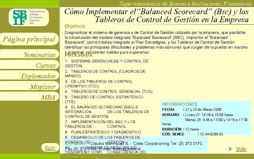 """Superintendencia de Bancos e Instituciones Financieras Cómo Implementar el""""Balanced Scorecard"""" (Bsc) y los Tableros"""