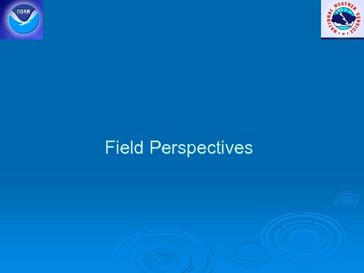 Field Perspectives
