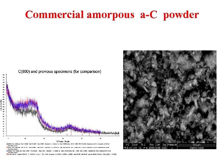 Commercial amorpous a-C powder