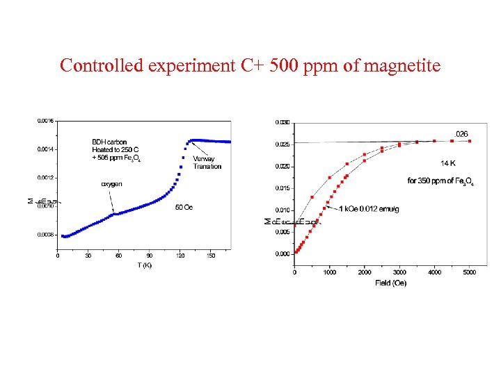 Controlled experiment C+ 500 ppm of magnetite
