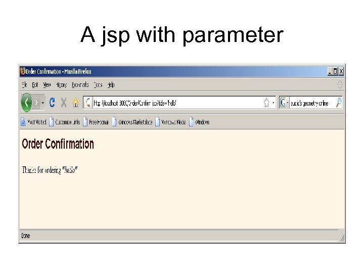 A jsp with parameter