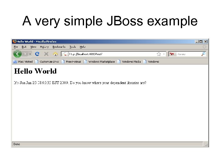 A very simple JBoss example