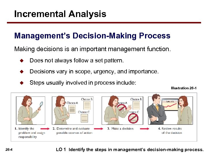 Incremental Analysis Management's Decision-Making Process Making decisions is an important management function. u Does