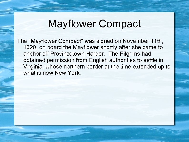 Mayflower Compact The