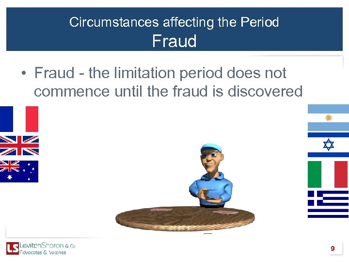 Circumstances affecting the Period Fraud • Fraud - the limitation period does not commence