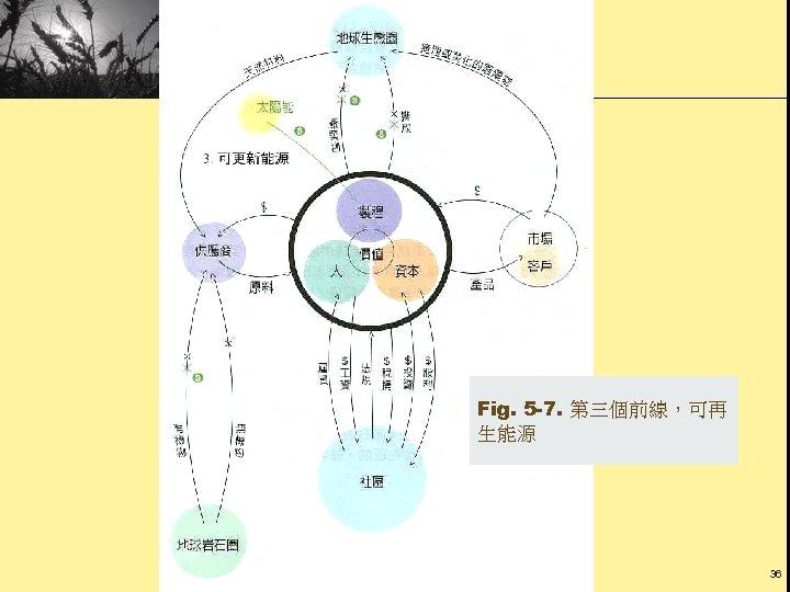 Fig. 5 -7. 第三個前線,可再 生能源 36