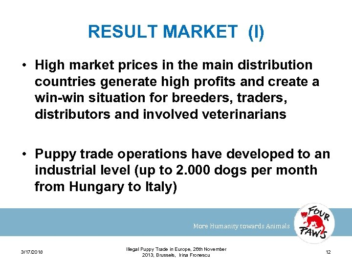 RESULT MARKET (I) • High market prices in the main distribution countries generate high