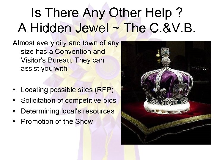 Is There Any Other Help ? A Hidden Jewel ~ The C. &V. B.