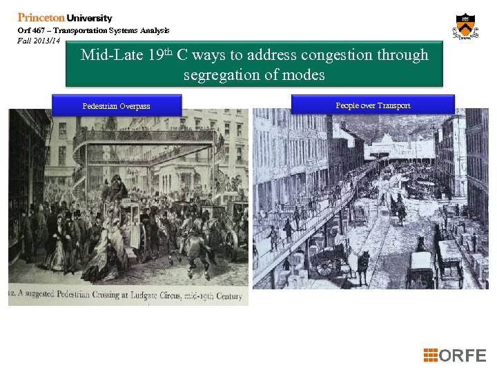 Orf 467 – Transportation Systems Analysis Fall 2013/14 Mid-Late 19 th C ways to
