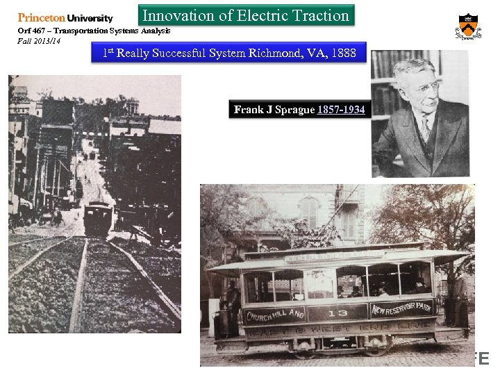 Innovation of Electric Traction Orf 467 – Transportation Systems Analysis Fall 2013/14 1 st