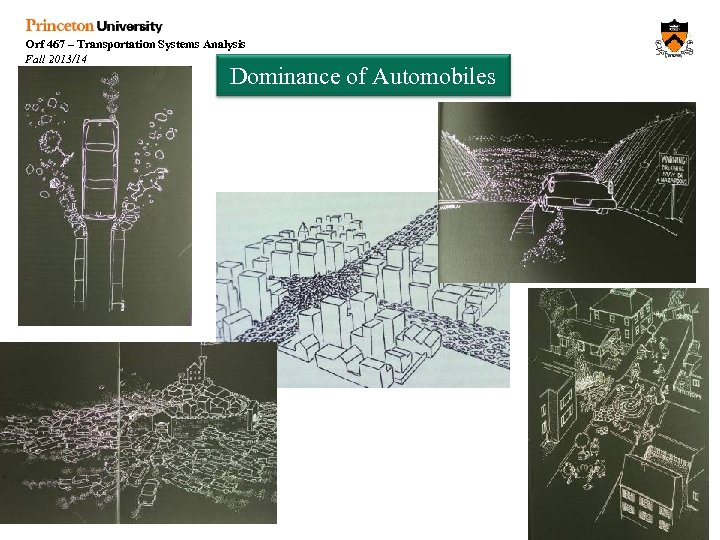 Orf 467 – Transportation Systems Analysis Fall 2013/14 Dominance of Automobiles