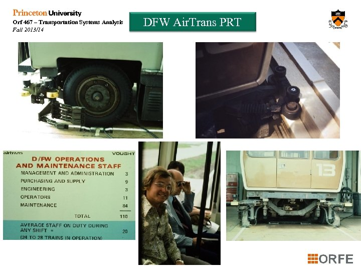 Orf 467 – Transportation Systems Analysis Fall 2013/14 DFW Air. Trans PRT