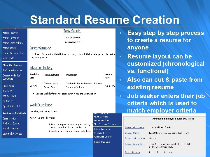 Standard Resume Creation Easy step by step process to create a resume for anyone