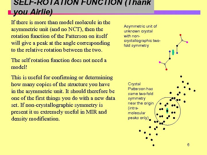 SELF-ROTATION FUNCTION (Thank you Airlie) If there is more than model molecule in the