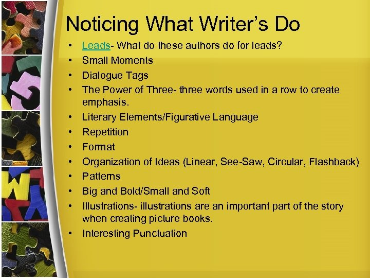 Noticing What Writer's Do • • • Leads- What do these authors do for