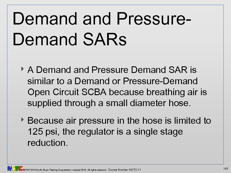Demand Pressure. Demand SARs ‣ A Demand Pressure Demand SAR is similar to a