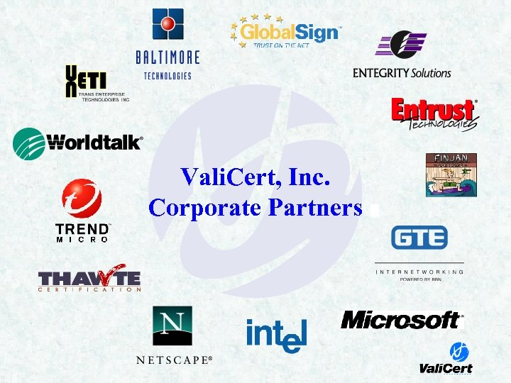 Vali. Cert, Inc. Corporate Partners